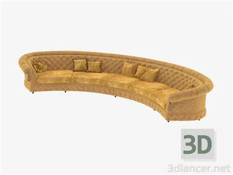 divano semicircolare 3d modella divano semicircolare classico dal produttore
