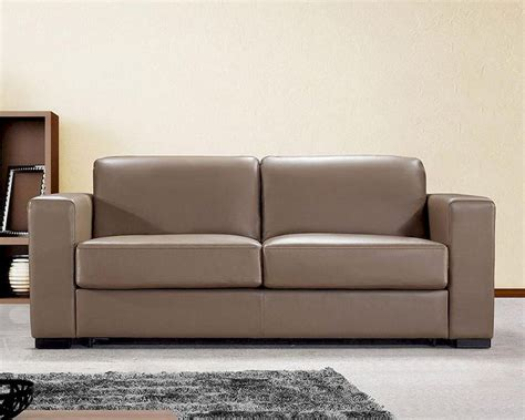 Dual Modern Brown Leather Sofa Bed 44l6036 Brown Leather Sofa Bed