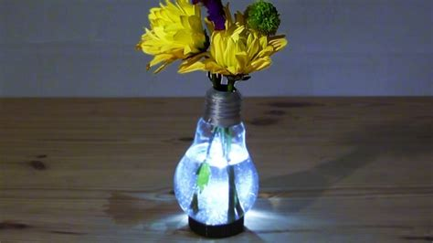Light Up Flowers In Vase by Diy Recycled Bulb Projects Recycled Things