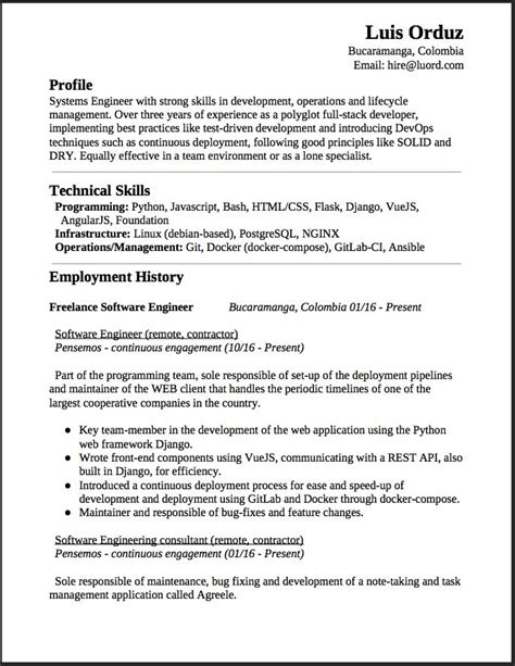 systems engineer resume samples visualcv resume samples database