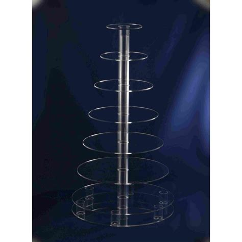 acrylic stand square 7 tiered acrylic cup cake stand