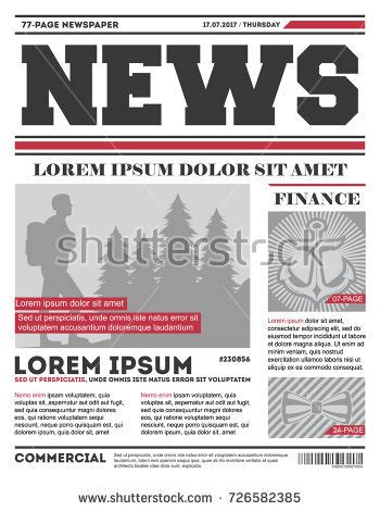 tabloid page layout tabloid layout stock images royalty free images vectors