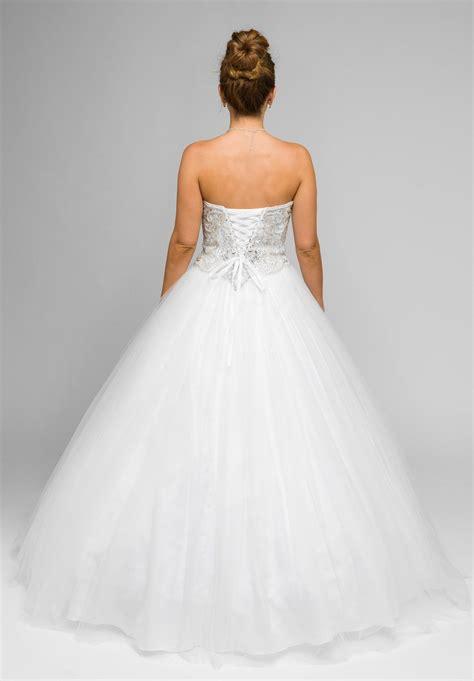 white beaded wedding dress white beaded bodice strapless gown wedding dress with