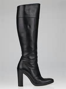 balenciaga black leather square toe boots size 7 37 5