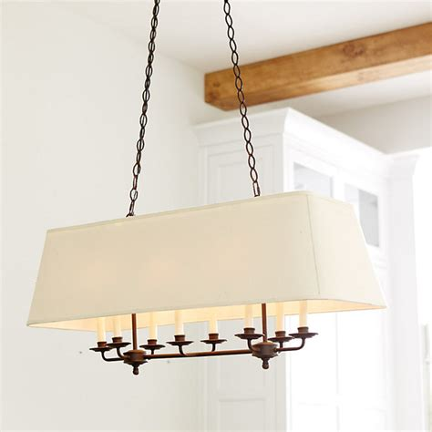 Chandelier Rectangular Remington 8 Light Rectangle Chandelier Traditional Chandeliers By Ballard Designs