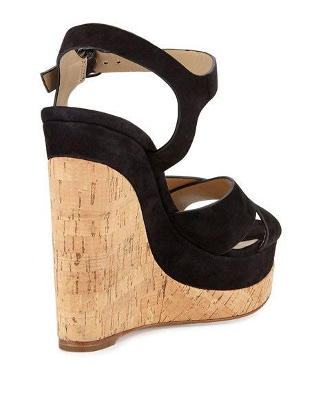 Sandal Gunung Jk Collectin michael kors cate suede wedge sandal black