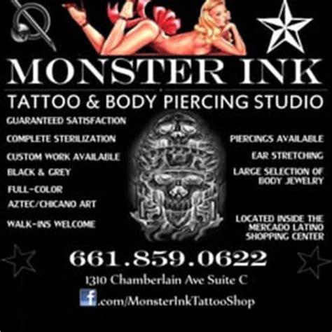 Tattoo Equipment Bakersfield Ca | monster ink tattoo body piercing studio tattoo