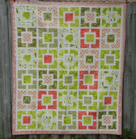 Coral Colored Quilts by This Quilt With The Green And Coral Colors This
