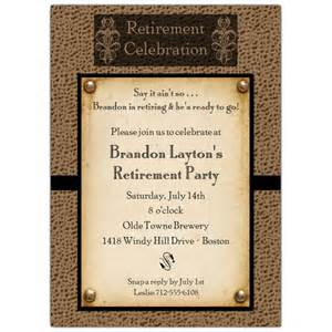 retirement invitations templates snakeskin antique retirement invitations paperstyle
