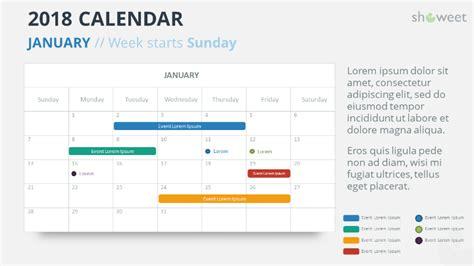 2018 Calendar Powerpoint Templates Powerpoint Calendar Template