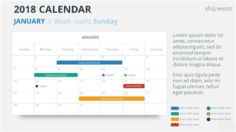 2018 Calendar Powerpoint Templates Free Template Powerpoint 2018