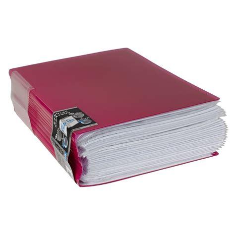 Kokuyo Novita Clearbook P N20 kokuyo display book a4 novita 40 pocket pink officeworks