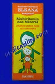 Suplemen Elkana Vitamin Dan Suplemen Elkana Syrup Sanbe Farma