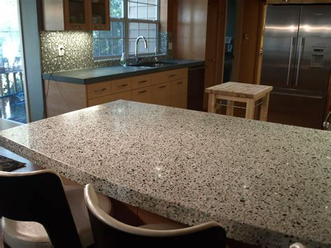 Glass And Concrete Countertops by Goodbye 90 S Kitchen Traditional Kitchen San