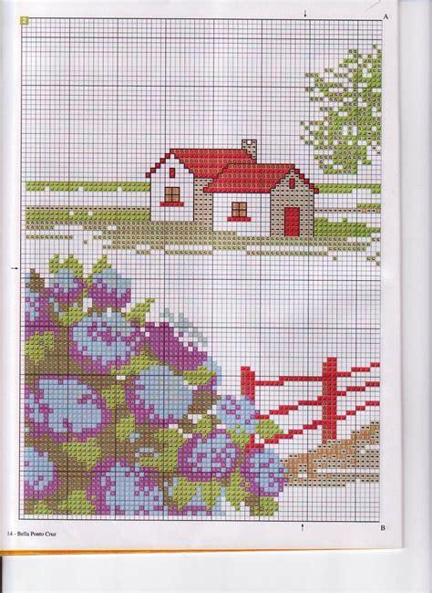 cuscini a punto croce schemi cuscino punto croce casa con ortensie 2 magiedifilo it