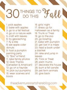 the adventure starts here 30 things to do this fall