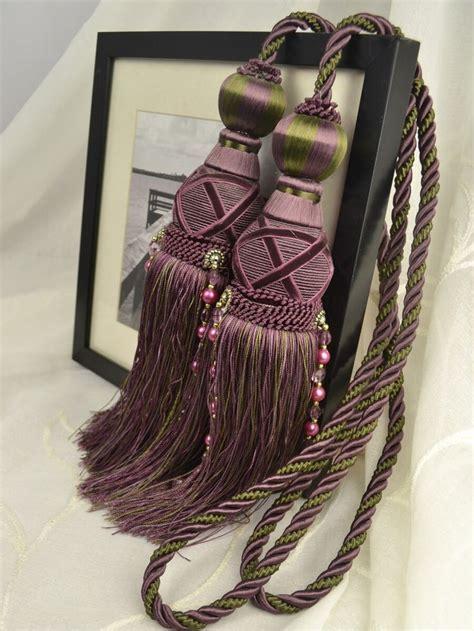 purple curtain tie backs 193 best 36 styles curtain tassel tie backs images on