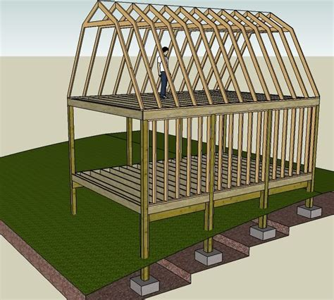 2 story barn plans making my own plans 16 x 24 gambrel style 2 story