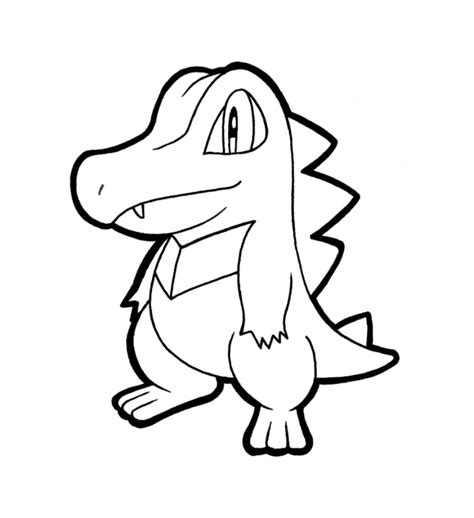 pokemon coloring pages totodile totodile lineart nintendo by crazycowco on deviantart