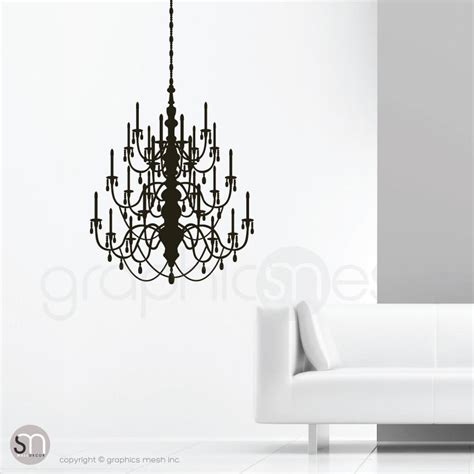 Black Chandelier Wall Decal Chandelier Wall Decal Graphicsmesh