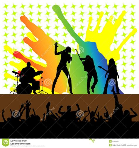 Rock Concert Clipart rock concert vector stock images image 5321334