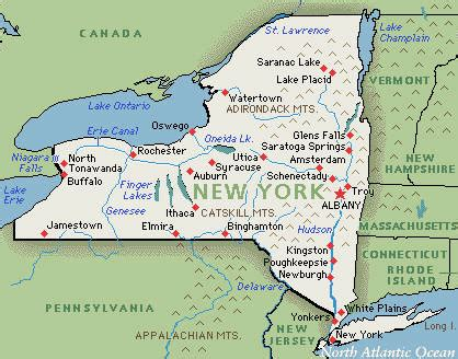 america new york map new york america map