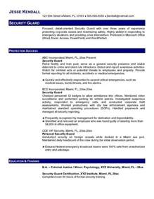 security guard resume template best security guard resume sle 2016 resume sles 2017