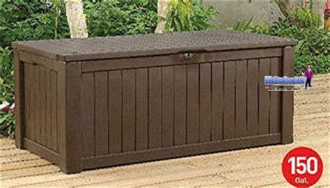 pool deck storage bench keter 150 gal pool patio storage bench deck outdoor box