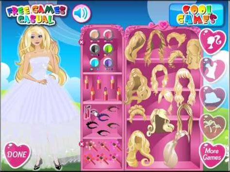 barbie wedding dressup games free download java barbie perfect bride dress up game youtube