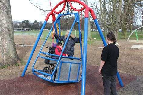 swing for wheelchair users iswing the wheelchair accessible swing inclusive play