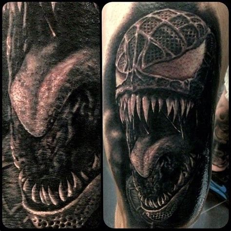 venom tattoo designs spider 3 venom villain tats