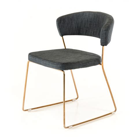 Gold Dining Chairs Rudolpho Modern Grey Dining Chair With Gold Modern Dining Chairs