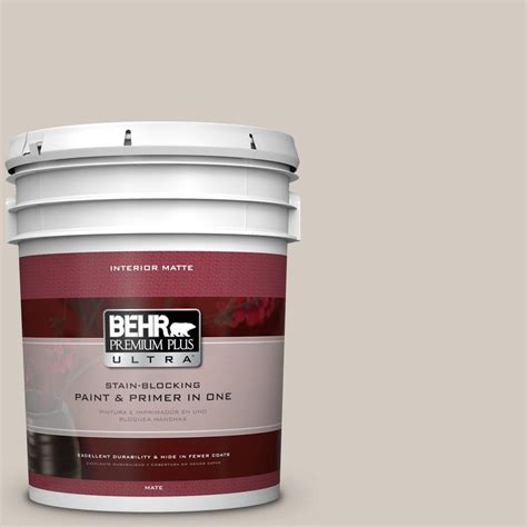 home depot behr ultra paint behr premium plus ultra 5 gal n320 2 toasty gray matte
