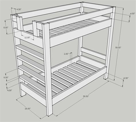 Bunk Bed Design Question Kreg Owners Community Wood Bunk Bed Mattresses Sizes