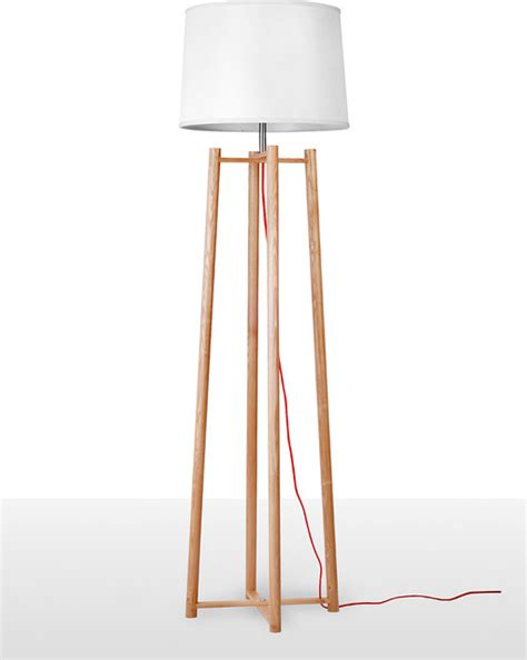 contemperary tall quadripod floor lamp for living room