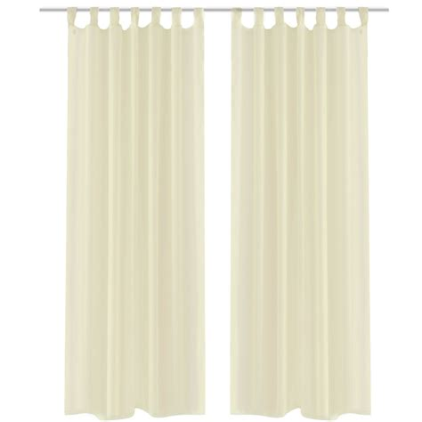 mesh drapes vidaxl co uk cream sheer curtain 140 x 245 cm 2 pcs