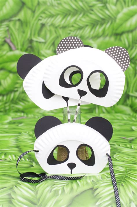 Masker Panda paper plate masks 62 creative ideas guide patterns