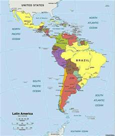 political south america map south america map
