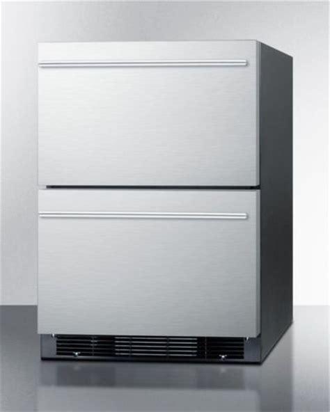 Drawer Refrigerator Freezer Undercounter by Summit Sprf2dim 2 Drawer 24 Quot Undercounter Ss Refrigerator