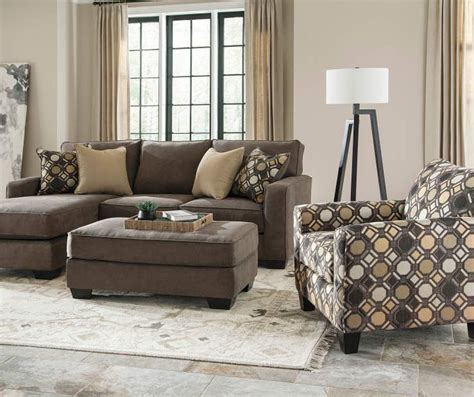 keenum taupe sofa with reversible chaise buy a keenum living room furniture collection at big lots