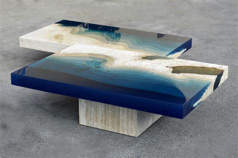 Unique Home Interior Design by A River Runs Through These Marble Amp Resin Tables Creators