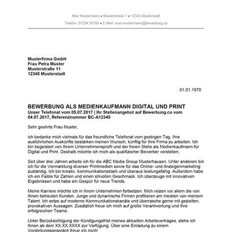 Bewerbung Anschreiben Digital Bewerbung Als Medienkaufmann F 252 R Digital Und Print