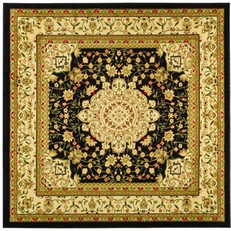 8 x 8 square area rugs safavieh lyndhurst black ivory 8 ft x 8 ft square area rug lnh213a 8sq the home depot