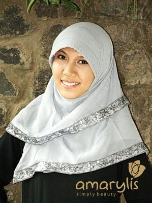 Jilbab Segiempat Renda Tassel Abu Abu jilbab instan formal amarylis collection