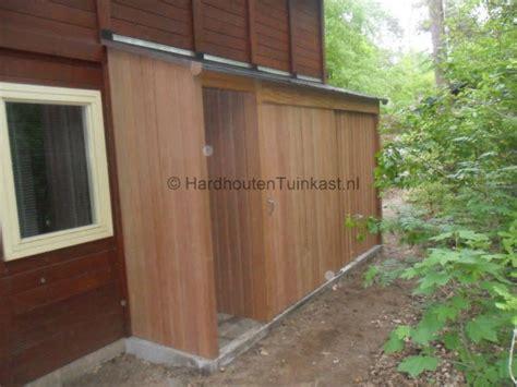 tuin kast hout hardhouten tuinkast met ruimte voor houtopslag