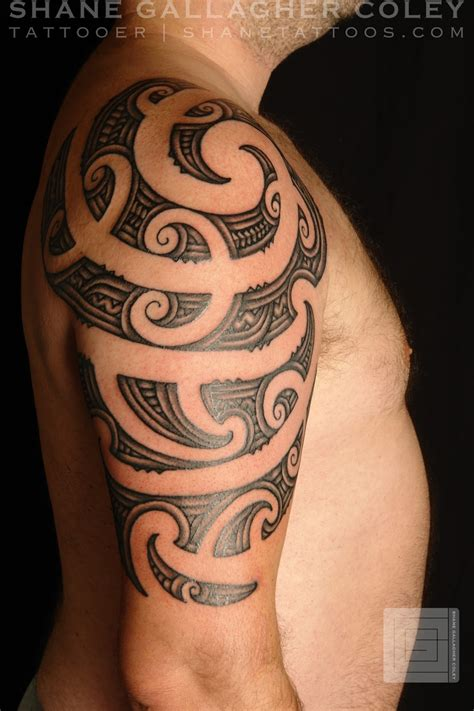 ta tattoo artists shane tattoos maori half sleeve ta moko