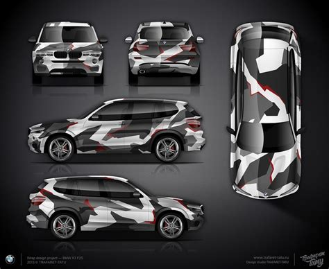 Auto Design Vorlage Geometric Camo Wrap Design For Bmw X3 F25 Vehicle Wraps