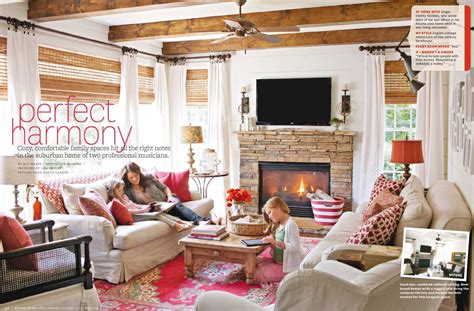 cozy family home interiors  color