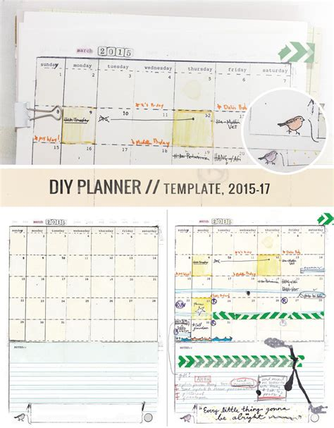 make your own planner pages template make your own awesome planner yeah diyplanner of