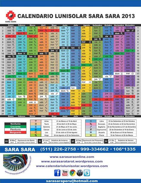 Calendario Solar Calendario Lunisolar Tarot Terap 233 Utico Con